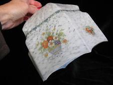 Vintage White Marbled Glass Pendant Lampshade - flowers medium 1940's