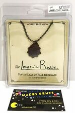 The Lord of the Rings Elvish Leaf of Fall Necklace Copper Shire Post Mint - New!