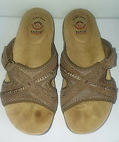 Sandals EARTH SPIRIT Leather Comfort Womens US Size 6 Tan Gelron Cushions Insole