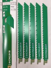 RW60 X HITACHI RECIP SAW BLADES WOOD PRUNING SPEED 225mm length 3tpi HCS S111k