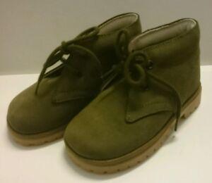 BABY Jungen Kinder Schuhe Herbst MADE IN ITALY Gr. 22 Grün LEDER NEU
