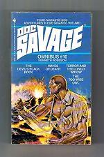 DOC SAVAGE OMNIBUS #10 (Lester Dent as Kenneth Robeson/1st US/PBO/4 novelettes)