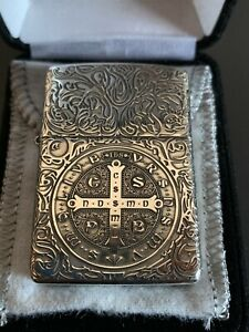 Rare Constantine 5-side Zippo Lighter Sterling silver, Zippo