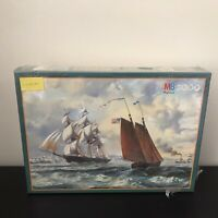 MB Puzzle 3000 Pieces Discovery The Golden West By Roy Cross 1991 Sealed