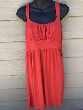 APT 9 Women's Strap Empire Waist Dress Size L Large Red Orange Rayon Stretch