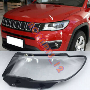 Left Side Transparent Headlight Cover + Glue Replace For JeeP Compass 2017-2019