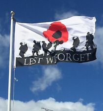 Lest We Forget Military Flag 3ft X 2ft & 59mm Button Badge