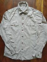 Men's Topman Military Style Shirt Small