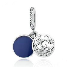 1pcs Silver European Charm plated Beads Fit 925 Necklace Bracelet Chain SH448