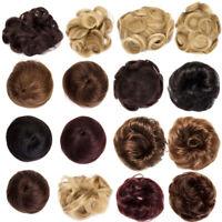 Women Girl Real Natural Messy Bun Hair Piece up Scrunchie Human Hair Extensions