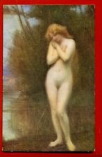 NUDE WOMAN BY JAN STYKA VINTAGE POSTCARD 4220