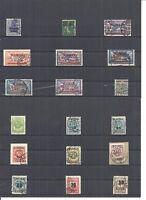 Memel, Litauen 1920-23, Einzelmarken aus MiNrn: 17 - 198 o, geprüft Huylmans BPP