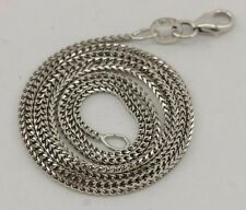 NEW 3.16g solid 14k white gold 18 inch 1mm Franco chain necklace lobster clasp