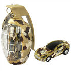 """2.7"""" Army Camouflage Mini Grenade RC Car Remote Control Christmas Toy MC98 Brown"""