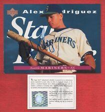 EARLY ALEX RODRIGUEZ Signed 1995 UD 5x7 Card UDA COA