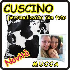 CUSCINO QUADRATO MUCCA personalizzato con foto!!!!