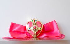 Sailor Moon Super Cosmic Moon Compact and Bow pin mini toy 1995 vintage