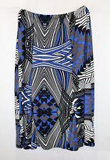 NONI B Brand Godet Panel Caribbean Print Day Skirt Size M BNWT #TN01
