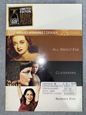 All About Eve/Cleopatra/Norma Rae Triple Feature (Dvd, 2010, 3-Disc Set, Fox.