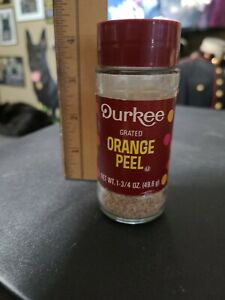 Vintage 1970s Partially Full Durkee Orange Peel Spice Jar