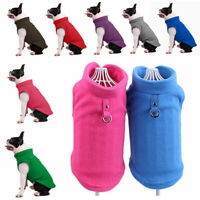 UK Small Dog Pet Winter Soft Warm Jacket Coat Fleece Clothes Cute Coat Sweater