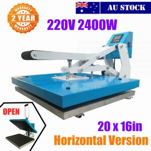 "20"" x 16"" Clamshell Auto Open t shirt Sublimation Heat Press Horizontal Version"