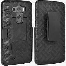 Verizon LG G3 Phone Shell/Holster Combo Case with Kickstand Black