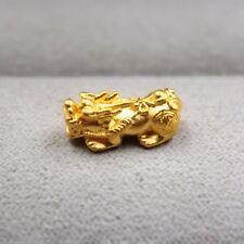 Real 999 24k Yellow Gold Pendant Women 3D Little Pixiu Pendant Within 1g