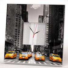 Manhattan Yellow Cab New York Taxi Wall Clock Mirror Decor Art Home Design Gift