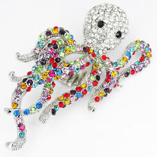 """Octopus Tentacle Cthulhu Stretch Cocktail Rings Jewelry Crystals Multi-color 3"""""""