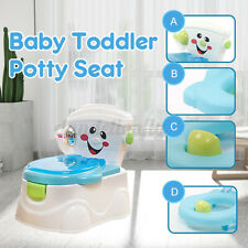 2 in 1 Kids Toilet Trainer Portable Baby Toilet Seat Toddler Potty Training Seat
