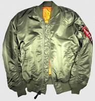 Alpha Industries MA1 oliv XXL,Fliegerjacke,Bomberjacke,Wendejacke,Kultjacke,USA