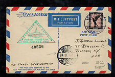 1930 Germany Graf Zeppelin PC Cover Baltic Flight to USA Helsinki Finland Cancel