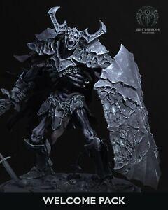 Undead Knight by Bestiarum Miniatures, D&D, Pathfinder, Warhammer, rpg