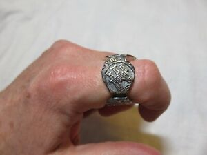 Men's David Yurman Shipwreck Signet Coin Ring DY 20mm 925 Sterling Silver