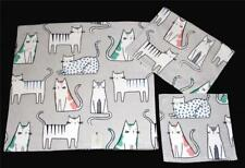 3 ARTISAN Velour Decorated Stripes Dots CATS Bath Hand Towels Wash Cloth NWT