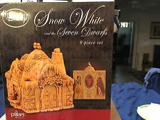 Disney Snow White and the Seven Dwarfs Pillars by Enesco 9 Piece Set BRAND NEW!