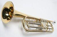 Basstrompete Bb Trompete Drehventile gold mit Koffer