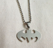 Stainless Steel Ball Chain  Batman Pendant Necklace  ladies mens Boys Girls Gift