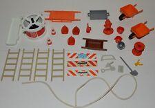Lot playmobil vintage secours urgence pompier 3403 et divers