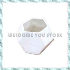 Modern Geometric Vase White Ceramic Decor Contemporary Vase Flower Decorative