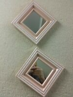 "Home Interior mirrors 1329AO ""Mulberry mirrors "" Pink / Trimmed In White/..."