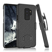 For Samsung Galaxy S9 Plus Belt Clip Holster W/Kickstand Hard Skin Case Cover
