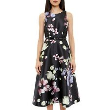 Ted Baker Rosa Kensington Skater Floral Midi Dress UK 10 Ted Size 2
