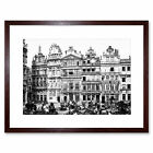The Houses On The Grand Place Brussels Belgium 1895 BW Framed Wall Art Print