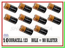 """10 DURACELL 123 Litio CR17345 Batterie Pile Softair Drone Allarme Sensore """"BULK"""""""