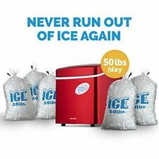 Portable Ice Maker With 50 Pound Daily Capacity Automatic Shut Off And Overflow