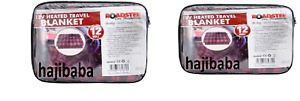2 X EXTRA LARGE 12V HEATED TRAVEL ELECTRIC BLANKET 8FT LEAD PVC BAG NEW