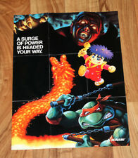 SNES Ad Poster The Legend of the Mystical Ninja Castlevania IV Gradius III TMNT