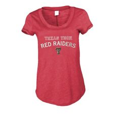 Texas Tech Red Raiders Womens Slub Crew Neck T-Shirt